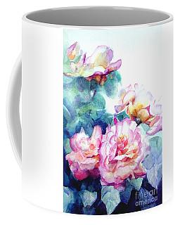 Pink Rose Bush Coffee Mug