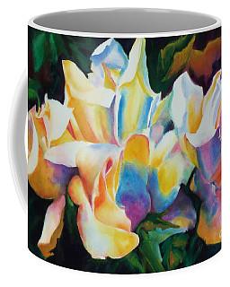 Rose Cluster Half Coffee Mug by Kathy Braud