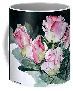 Watercolor Of A Pink Rose Bouquet Celebrating Ezio Pinza Coffee Mug
