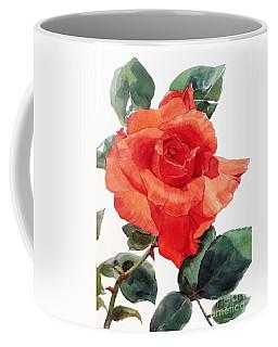 Watercolor Of A Single Red Rose I Call Red Rose Filip Coffee Mug