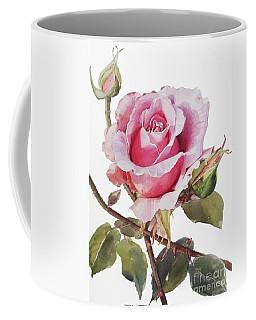 Watercolor Of Pink Rose Grace Coffee Mug