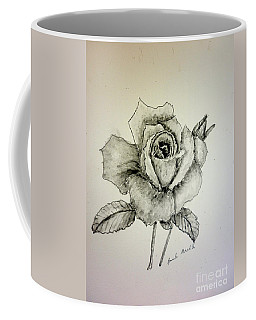 Rose In Monotone Coffee Mug