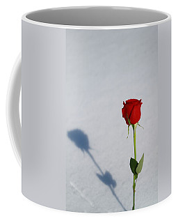 Rose In Snow Spring Approaches Coffee Mug