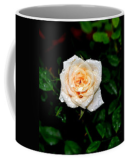 Coffee Mug featuring the photograph Rose In The Rain by Deena Stoddard