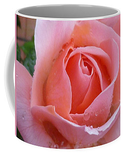 Coffee Mug featuring the photograph Rose In The Rain by Lingfai Leung