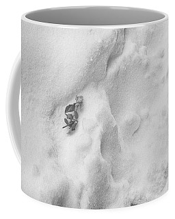 Coffee Mug featuring the photograph Rose In The Snow by Dave Beckerman