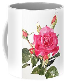 Watercolor Red Rose Margaret Coffee Mug