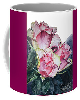 Watercolor Of A Bouquet Of Pink Roses I Call Rose Michelangelo Coffee Mug