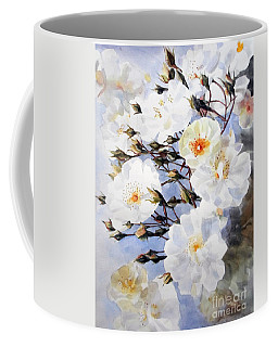 Wartercolor Of White Roses On A Branch I Call Rose Tchaikovsky Coffee Mug