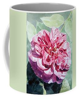 Watercolor Of A Pink Rose In Full Bloom Dedicated To Van Gogh Coffee Mug