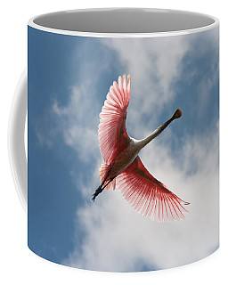 Coffee Mug featuring the photograph Roseate Soaring by Paul Rebmann