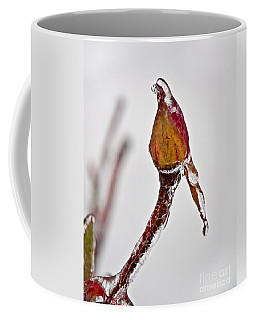 Rosebud Frozen In Ice Art Prints Coffee Mug by Valerie Garner