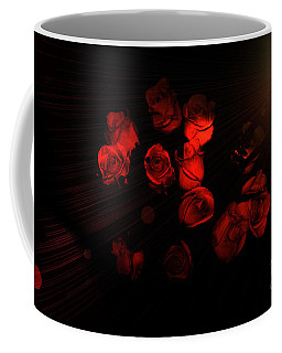 Roses And Black Coffee Mug