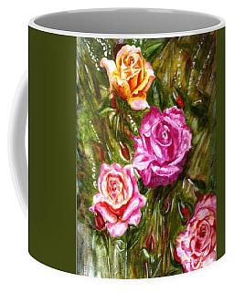 Coffee Mug featuring the painting Roses by Harsh Malik