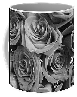 Coffee Mug featuring the photograph Roses On Your Wall Black And White  by Joseph Baril
