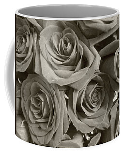 Coffee Mug featuring the photograph Roses On Your Wall Sepia by Joseph Baril
