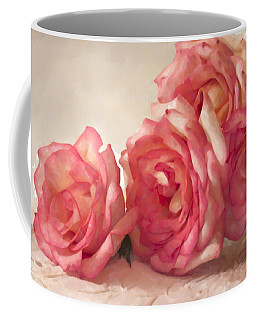Rosy Elegance Digital Watercolor Coffee Mug