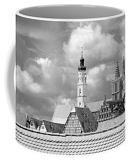 Rothenburg Towers In Black And White Coffee Mug