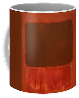 Rothko's Mulberry And Brown Coffee Mug by Cora Wandel