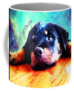 Rottie Puppy By Sharon Cummings Coffee Mug