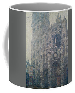 Rouen Cathedral West Portal Grey Weather Coffee Mug