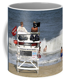 Rough Water At Bethany Beach In Delaware  Coffee Mug