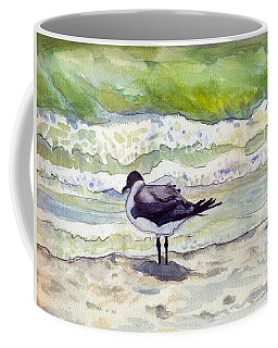 Coffee Mug featuring the painting Rough Waters Ahead by Katherine Miller