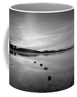 Round Valley At Dawn Bw Coffee Mug by Michael Ver Sprill