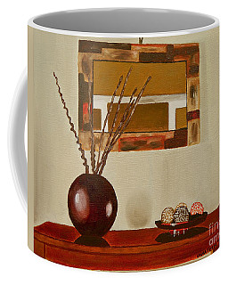 Coffee Mug featuring the painting Round Vase by Laura Forde