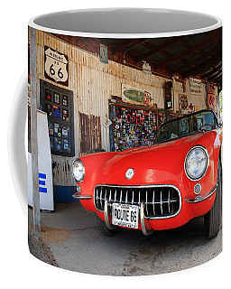 Route 66 Corvette Coffee Mug
