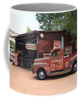 Route 66 Garage And Pickup Coffee Mug by Frank Romeo