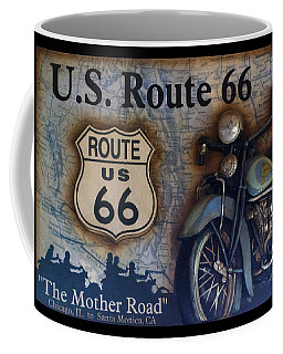 Route 66 Odell Il Gas Station Motorcycle Signage Coffee Mug