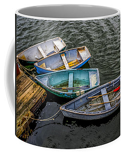 Row Boats At Dock Coffee Mug