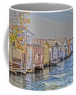 Row Of Boathouses Coffee Mug