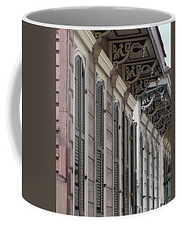 Coffee Mug featuring the photograph Row Of Houses by Beth Vincent