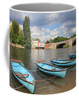 Rowing Boats At Hampton Court Coffee Mug