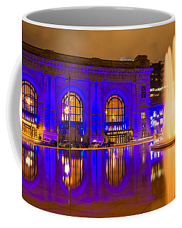 Royal Blue Reflections Union Station Coffee Mug by Steven Bateson