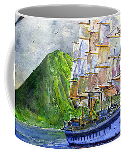Royal Clipper Leaving St. Lucia Coffee Mug