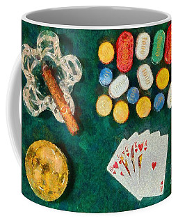 Coffee Mug featuring the painting Royal Flush by George Atsametakis