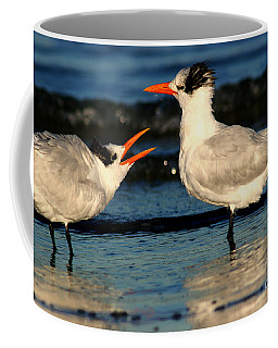 Coffee Mug featuring the photograph Royal Tern Courtship Dance by John F Tsumas