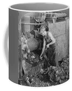 Coffee Mug featuring the painting Rubber Production, C1928 by Granger