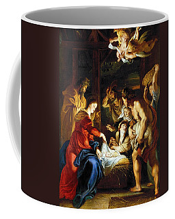 Coffee Mug featuring the photograph Rubens Adoration by Granger