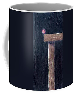 Coffee Mug featuring the painting Rubicon by A  Robert Malcom