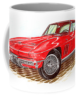 Ruby Red 1966 Corvette Stingray Fastback Coffee Mug