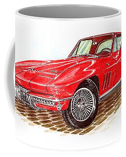 Ruby Red 1966 Corvette Stingray Fastback Coffee Mug by Jack Pumphrey