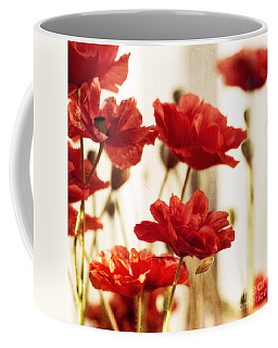 Ruby Red Poppy Flowers Coffee Mug