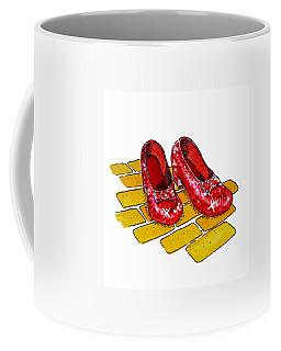 Ruby Slippers The Wizard Of Oz  Coffee Mug by Irina Sztukowski