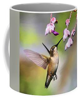 Ruby-throated Hummingbird - Digital Art Coffee Mug by Travis Truelove
