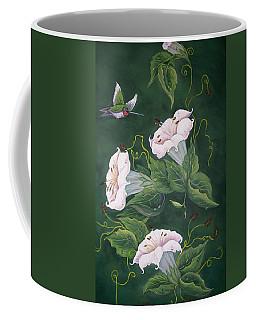 Hummingbird And Lilies Coffee Mug