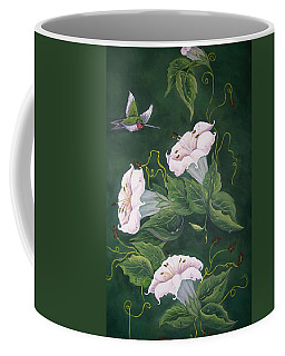 Hummingbird And Lilies Coffee Mug
